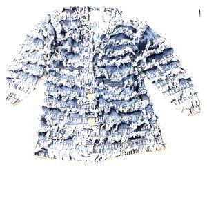 Vintage Fringe Boho Hippy Festival 80s Jacket